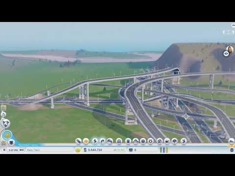 Гиганская Развязка красивый новый проэкт города SimCity 5 Часть 1