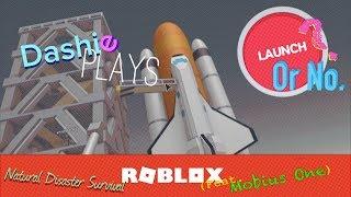 Launch? or No. - Natural Disaster Survival (Feat- Mobius One!) - Roblox | Dashie Plays