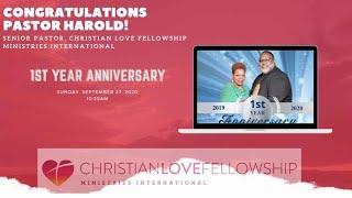 Pastor Harold's 1st Year Anniversary Video
