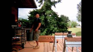 How To Build A Deck, Mahogany Bench And Fire Table
