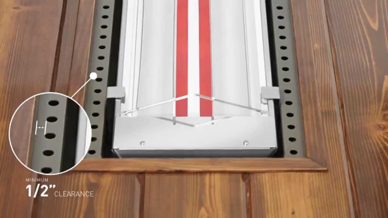 how to flush mount an infratech w series or wd series heater