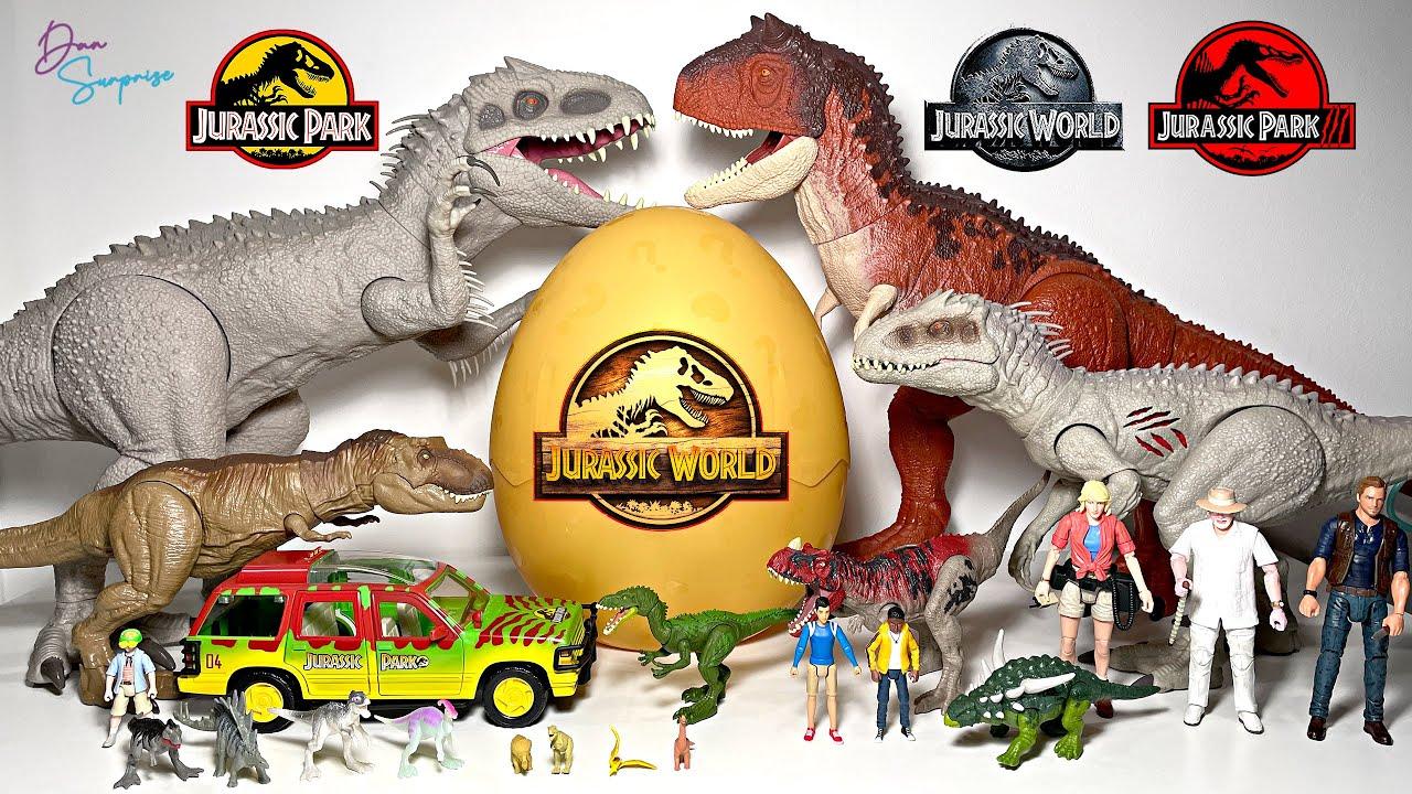 Hatch new Dinosaur Eggs with Jurassic World Dinosaur Fun Video!