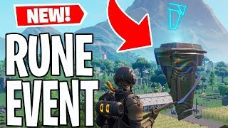 FORTNITE RUNE EVENT AT LOOT LAKE LIVE NOW! *NEW* RUNES ARE MOVING NOW!