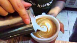 Cafe Departure Lounge Latte Art - Tulips