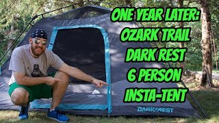 One Year Later: Ozark Trail Dark Rest 6 Person Insta-Tent.