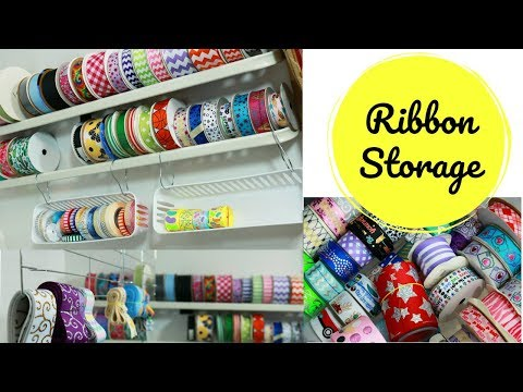 Clean with Me: Let's organize the ribbon! / DIY ribbon storage