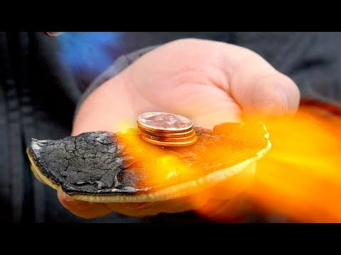 Melting Pennies In My Hand (DIY 'Starlite' Test)