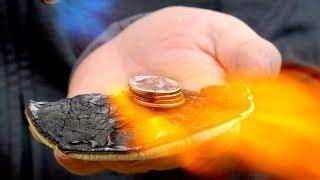 Melting Pennies In My Hand (DIY 'Starlite' Test)