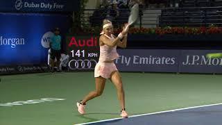 Kasatkina d. Vesnina - Dubai Tennis 2018 - QF WTA Highlights