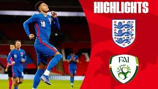 England 3-0 Ireland | Maguire, Sancho & Calvert-Lewin Get on the Scoresheet! | Official Highlights