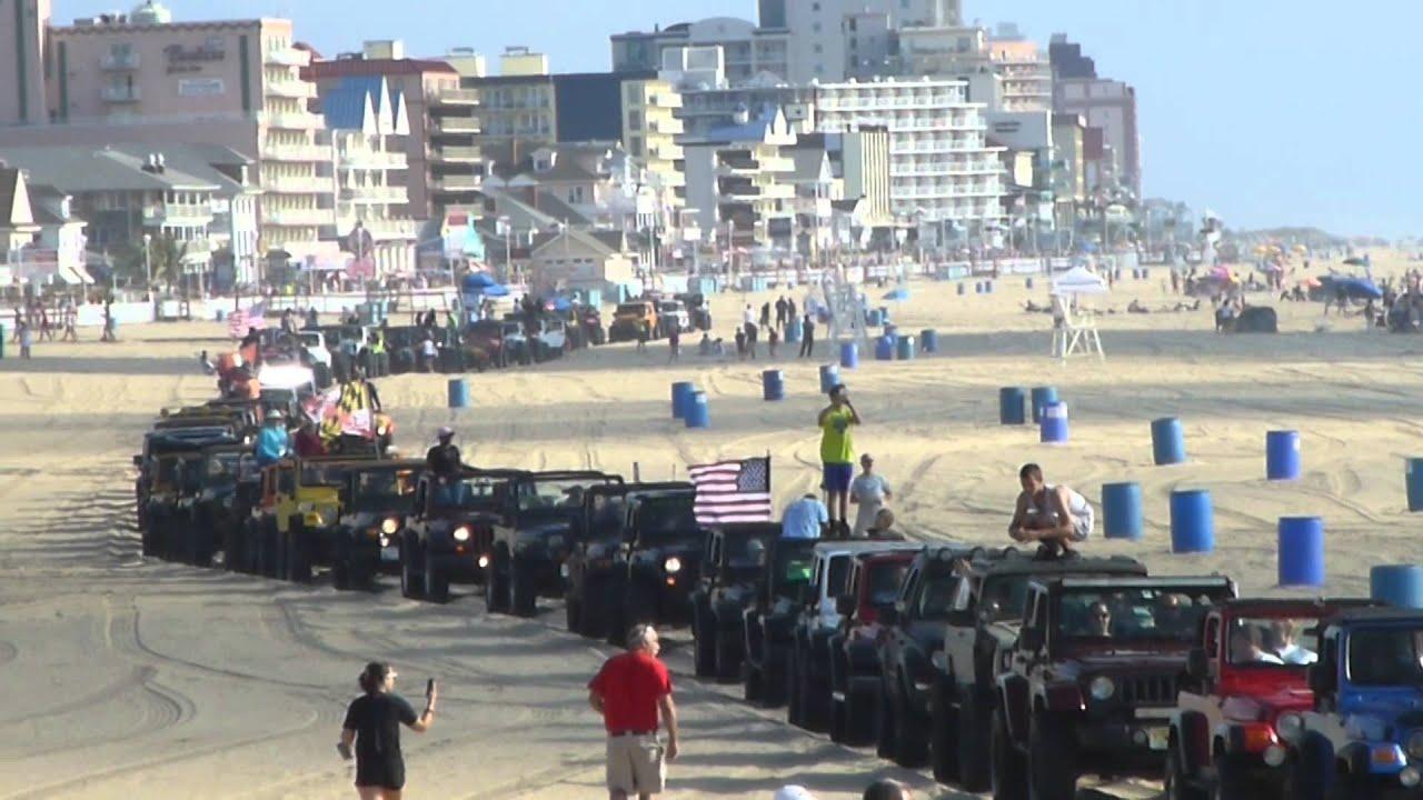 Jeep Week Beach Crawl Ocean City Maryland Ocmd