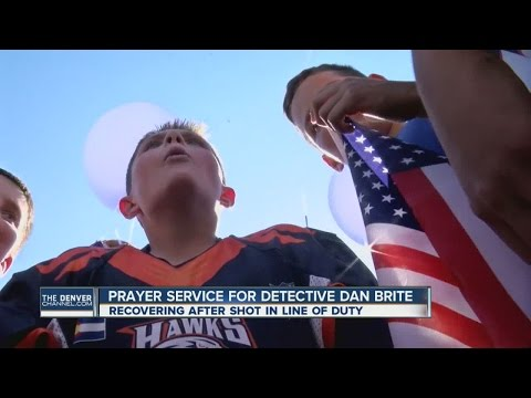 Prayer service for Detective Dan Brite