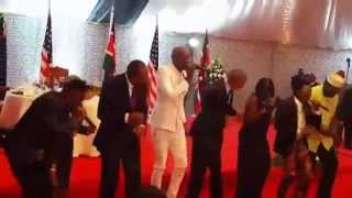 Obama dance Kenya Sauti Sol's - Sura Yako- in Nairobi- Full Version
