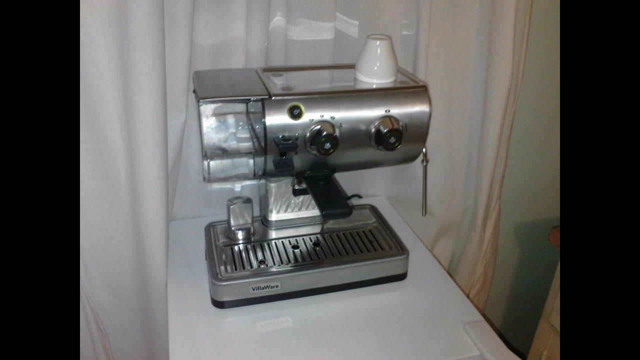 Bajaj Espresso Coffee Maker Demo : Villaware Espresso Coffee Maker - BWLESSL01 - YouTube