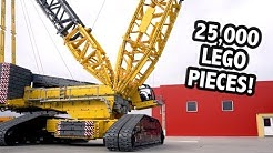 Huge LEGO Technic Crane – 4.5m/14.5 Feet Tall!