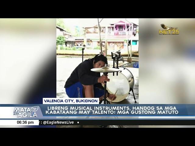 Libreng musical instruments, handog sa mga kabataang may talento at para sa mga gustong matuto