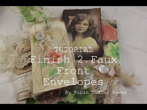 Tutorial 2 Faux Front Envelopes plus a mini shabby journal thumbnail