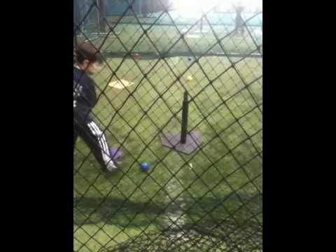 Hunter James Droskoski at baseball practice.
