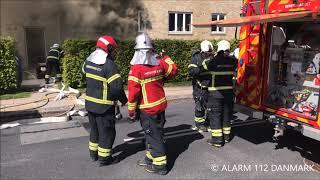 11.05.2019 - Voldsom brand i lejlighed - Lyngby