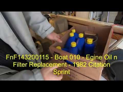 FnF143 - Boat 010 - Boat Restoration Part 10 - Oil N Filter Replacement - 1982 Citation Sprint