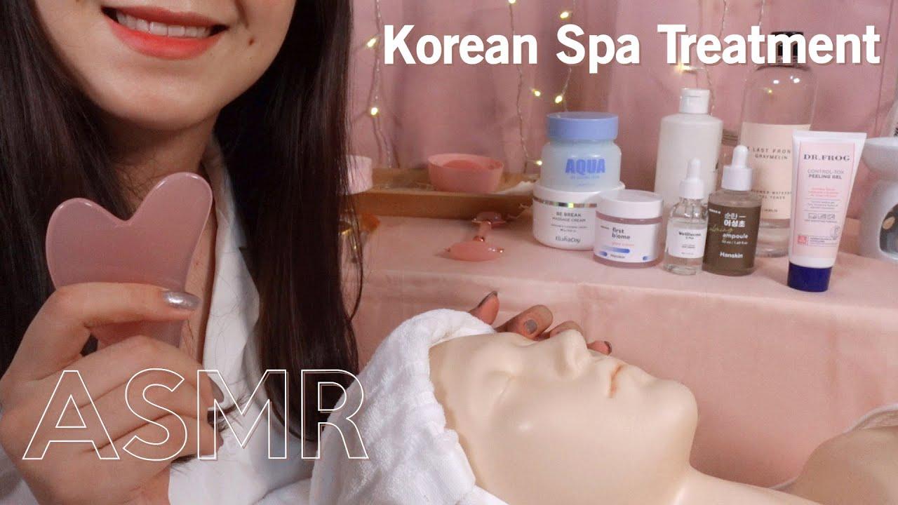 [Sub✔] ASMR Korean Skin Treatment 🙌 Facial Contour Course (layered sounds)