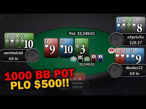 400+ Big Blind Pots Only! Pot Limit Omaha Cash Game Hands