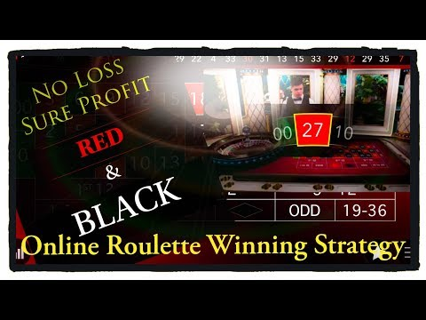 No Loss : Sure Profit : Black And Red Only :Roulette WIN Tricks