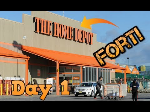 Home Depot Fort || Day 1 || Having Fun at Home Depot || First Vlog on this channel |