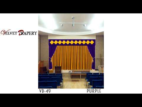 Velvet Drapery, Best Decorative Movie Home Theater Stage School Church Curtains