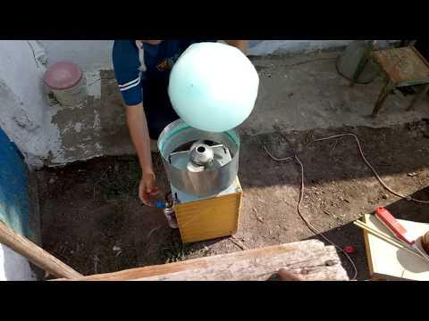 Самодельный аппарат сладкой ваты и горелка (Homemade Cotton Candy And Burner)