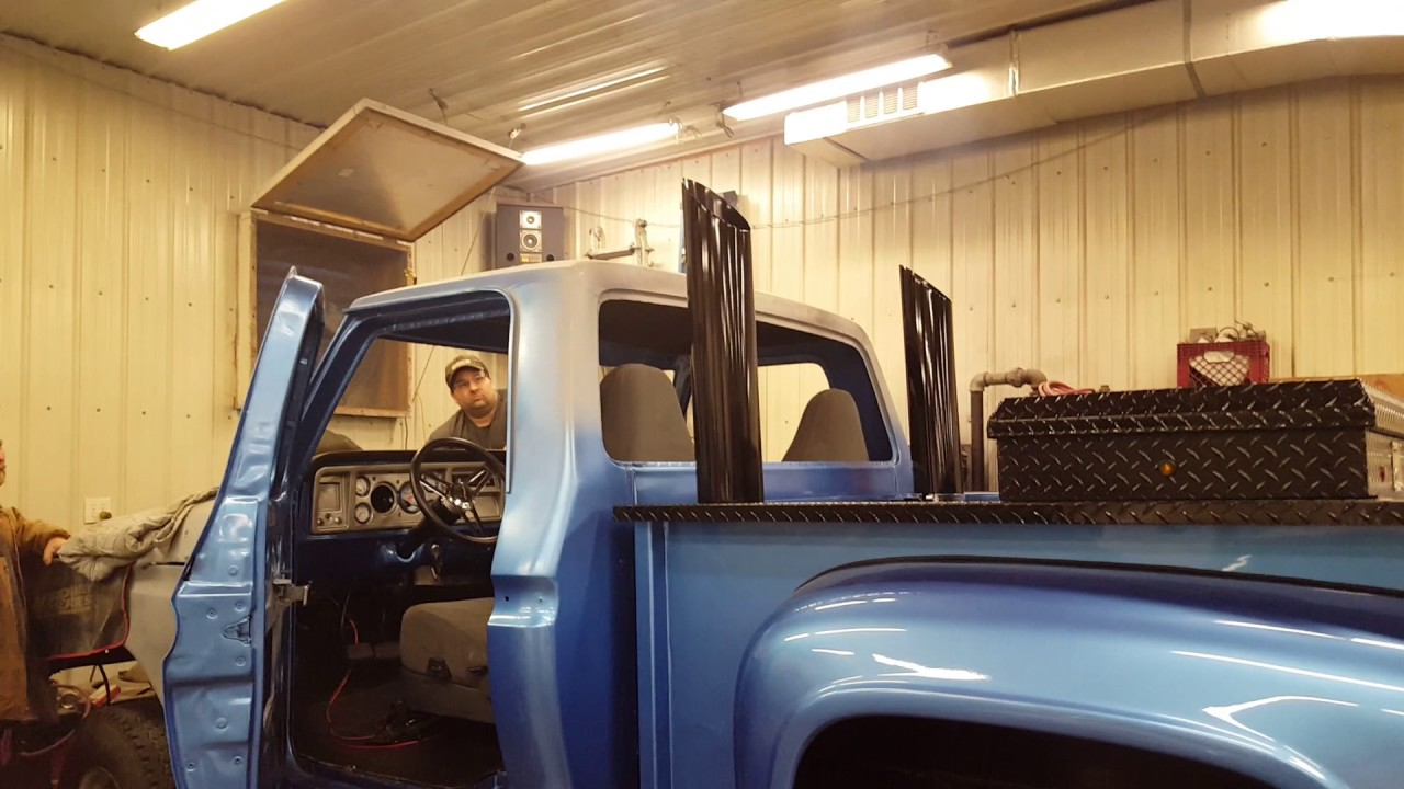 76 Ford Flareside 7 3 Idi Turbo Swap Youtube