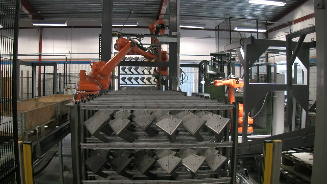 Automatic Racking Of Parts Prior To Paint Process With Abb