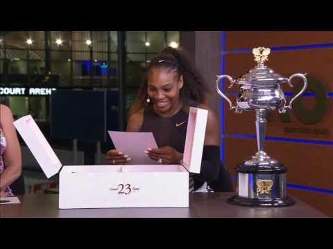 Serena Williams Gets Gift From Michael Jordan | ESPN Archives