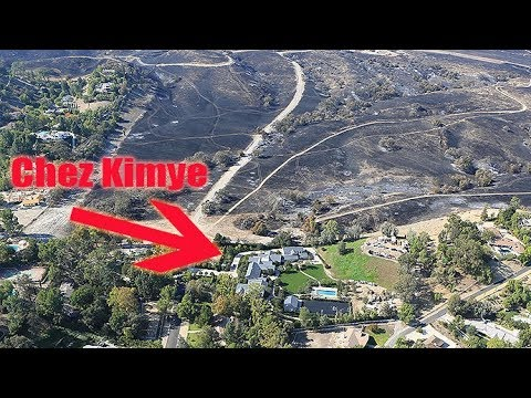 Kim Kardashian And Kanye West's Hidden Hills Mansion Almost DESTROYED By LA Fire!