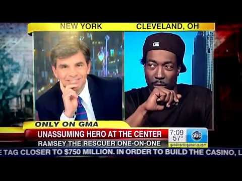 Charles Ramsey interview w George stephanopoulos regarding girls founding Cleveland