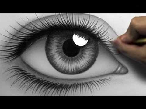 How to draw a realistic eye time lapse