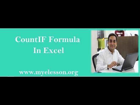 MS Excel : CountIf Formula In Excel