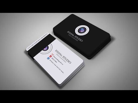 Professional Photography Business Card Design   Photoshop CC Tutorial 2019 thumbnail