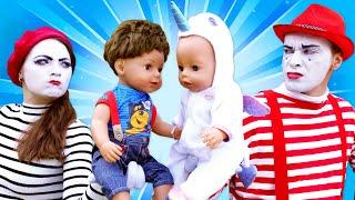 Детские мультики онлайн - Друзья БЕБИ БОН на детской площадке! - Видео игры с куклами Baby Bon.