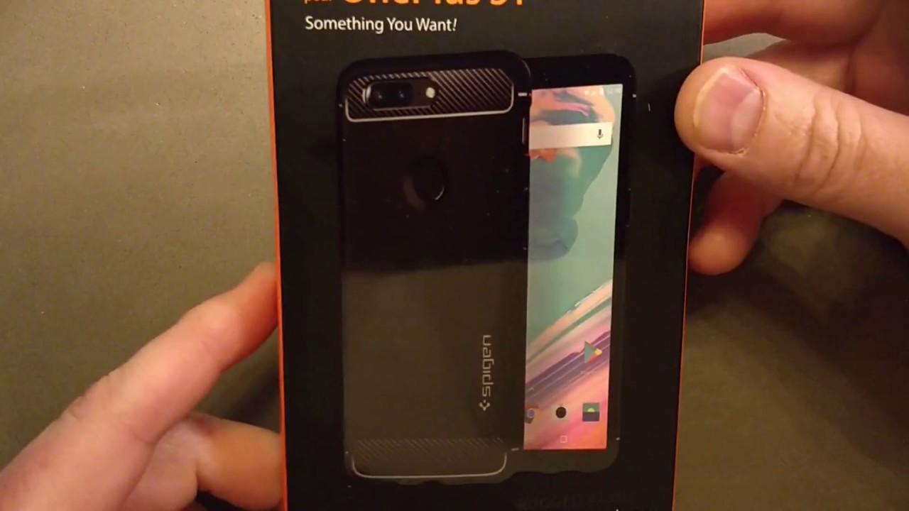 half off 72d7a f4b7b Spigen OnePlus 5T Rugged Armor Case Unboxing & Review