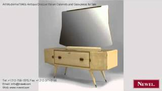 Art Moderne/1940s Antique Dresser Italian Cabinets And