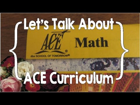 Let's Talk About ACE Curriculum (Accelerated Christian Education)