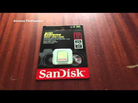 2017 SanDisk Extreme SDHC UHS-1 Class 10 Unboxing
