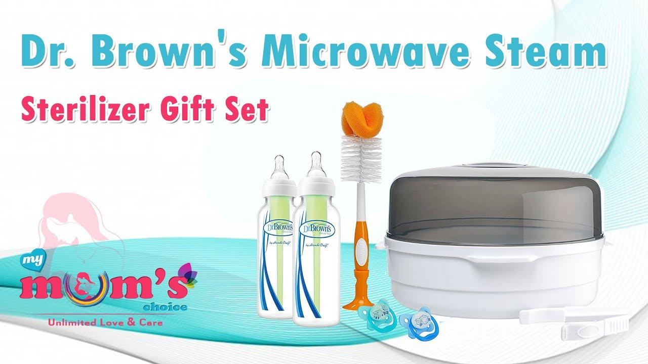 dr brown s microwave steam sterilizer gift set best baby bottles sterilizer mymumschoice