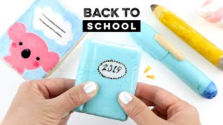 Back To School CLAY CRACKING Compilation! DIY School Supplies / Viral ASMR Trend
