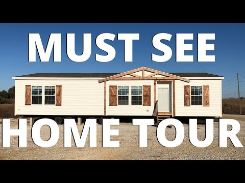 Ideal mobile home for a smaller family! Double Wide by Champion Homes   Mobile Home Tour