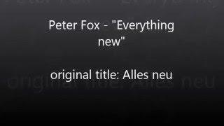 Peter Fox Alles neu english translation