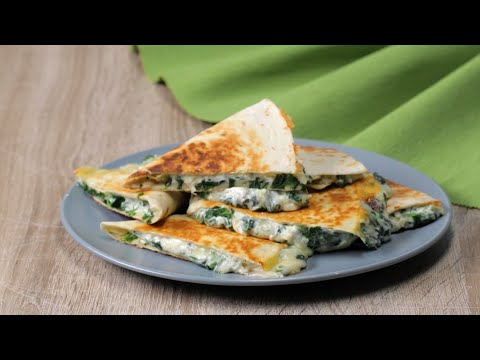How To Make Cheesy Spinach And Artichoke Quesadillas •Tasty Recipes