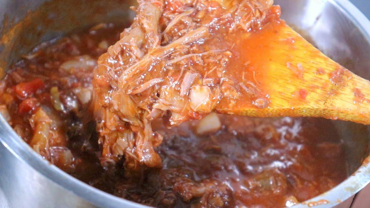 【プロのレシピ】牛スジ肉のトマト煮込み〜how to make beef stewed in tomatoes〜作り方
