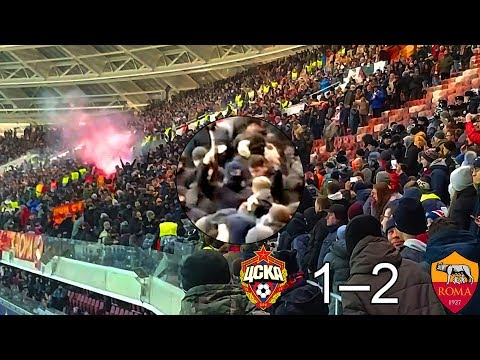 CSKA - ROMA. Clash of Fans. Moscow. 07.11.18 (detailed view) thumbnail